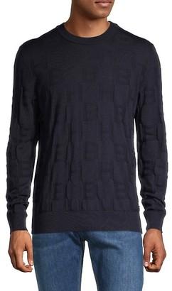 HUGO BOSS Textured Wool Sweater