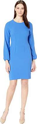 Nine West Women's 3/4 Sleeve Dart Body Dress
