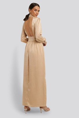 NA-KD High Neck Open Back Maxi Dress