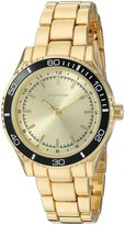 Rampage Women's 'Colored Dial Band' Quartz Metal and Alloy Automatic Watch, Color:d (Model: RP1091GDBK)