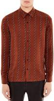 Sandro Chains Slim Fit Button-Down Shirt