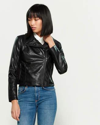 Bagatelle Washed Faux Leather Jacket