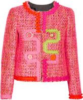 Moschino Embellished Tweed Jacket - Pink