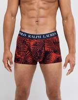 Polo Ralph Lauren Palm Print Trunks In Orange
