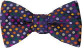 Duchamp Men's Polka-Dot Silk Jacquard Bow Tie