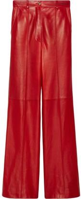 Gucci Lambskin Tailored Trousers