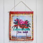 Dormify Natural Living Love What You Have Canvas Wall Hanging
