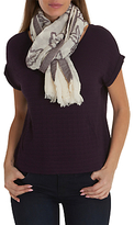 Betty Barclay Floral Weave Scarf, Cream/Purple