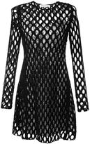 Sonia Rykiel mesh transparent panelling dress - women - Cashmere/Virgin Wool - M