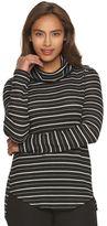 Dana Buchman Women's Textured Striped Cowlneck Sweater