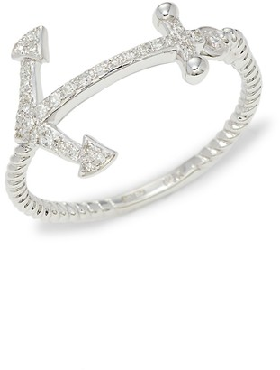 Effy 14K White Gold Diamond Anchor Ring