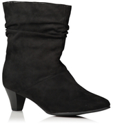 George Wide Fit Faux Suede Ankle Boots