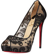 Christian Louboutin Very Lace Platform Red Sole Pump