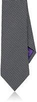 Ralph Lauren Purple Label Men's Circle-Print Silk Necktie-BLACK