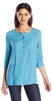 G.H. Bass & Co. Women's Textured Rayon Top