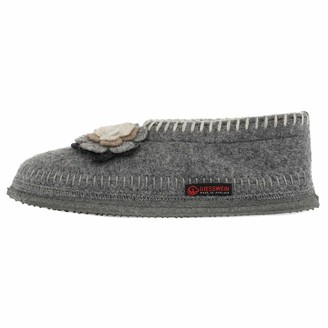 Giesswein Slipper Trausnitz Grey 42 - Warm Slipper Made of 100% Wool Ladies Slippers Comfortable Slippers for Women Indoor Shoe for at Home