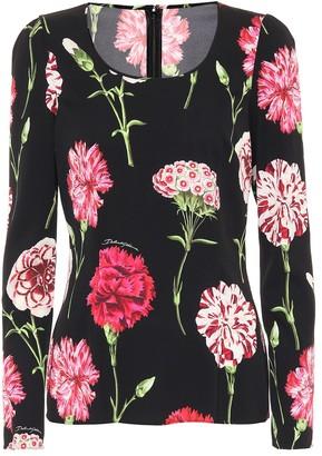 Dolce & Gabbana Floral stretch silk top