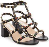 Valentino Rolling Rockstud Leather Sandals