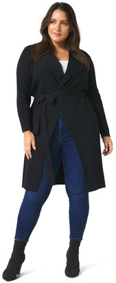 Forever New Curve Lucy Panelled Long Curve Cardigan