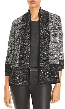 Karl Lagerfeld Paris Marbled Open Front Cardigan