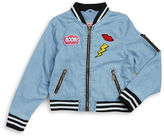 Urban Republic Girls 7-16 Girls Patch Bomber Jacket