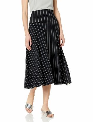 Norma Kamali Women's Side Striped Flared Skirt