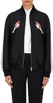 Stella McCartney Women's Embroidered Bomber Jacket-BLACK