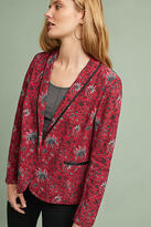 Anthropologie Piped Floral Blazer