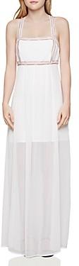 BCBGeneration Embroidered Empire-Waist Maxi Dress