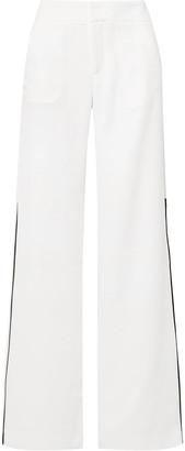 La Ligne Riviera Grosgrain-trimmed Crepe Wide-leg Pants