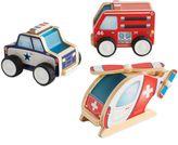 Guidecraft 3-Pack Jr. Plywood Community Vehicles