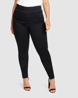 Forever New Curve - Women's Black Jeans - Charlotte Curve High Rise Jeggings - Size One Size, 16 at The Iconic