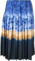 Altuzarra tie dye midi pleated skirt