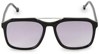 Colors In Optics 57MM Navigator Square Sunglasses