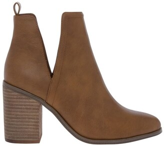 Miss Shop Willow Tan Heeled Ankle Boot