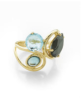 Ippolita 18K Rock Candy Squiggle Ring in Midnight Rain, Size 7
