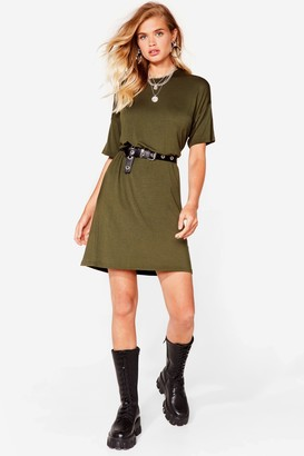 Nasty Gal Womens Drop Topic Midi Tee Dress - Black - 6, Black