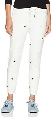 Pam & Gela Women's Basic Sweatpant W/Embroidered Stars