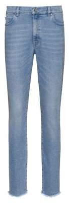 HUGO STELLA slim-fit cropped jeans in comfort-stretch denim