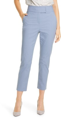 Rebecca Taylor Tailored by Stretch Cotton Suit Pants