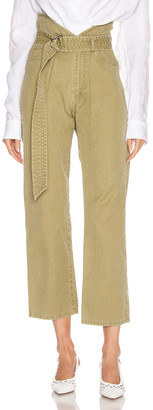 Marissa Webb Travis Heavy Canvas Pant in Khaki Green | FWRD