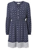 Jeanswest Isabella Mixed Print Dress-Multi Deep Iris-6