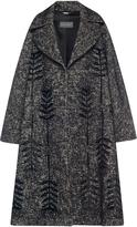 Alberta Ferretti Embroidered Tweed Oversized Coat