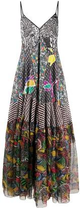 Missoni Contrast Panel Floral Print Silk Dress
