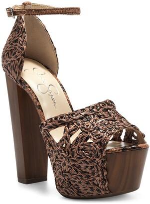 Jessica Simpson Dessie Woven Platform Sandal
