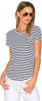 Splendid 1X1 Venice Stripe Tee in White