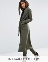 Lavish Alice Tall Wrap Belted Trench With Piping Detail