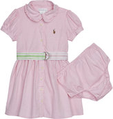 Ralph Lauren Belted cotton shirt dress and under shorts 3-24 months