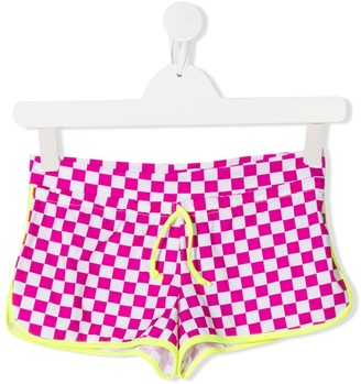 Mc2 Saint Barth Kids TEEN check print swim shorts