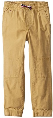 Tommy Hilfiger Adaptive Adaptive Boys' Jogger Pants with Elastic Waist (Toddler/Little Kids/Big Kids) (Club Khaki) Men's Casual Pants